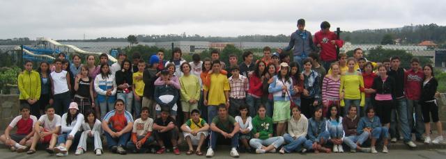Foto de grupo en Cerceda. Xuño, 2006